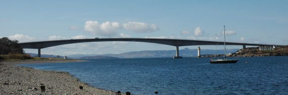 The Skye Bridge was opened in 1995 and replaced the ferry service which had operated since about 1600.