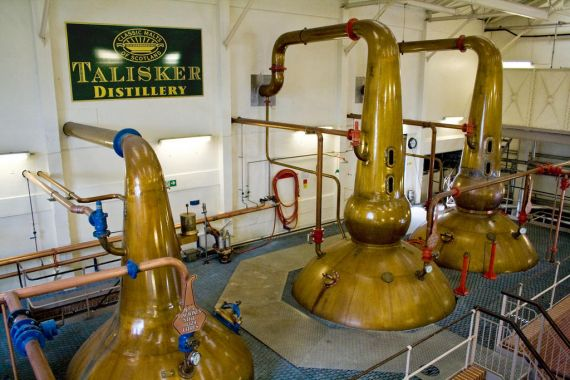 The Talisker Distillery on the shores of Loch Harport and is the only single malt whisky distillery on the Isle of Skye.