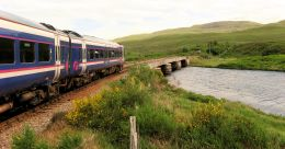 The railway journey from Inverness to Strathcarron and/or Kyle of Lochalsh on the Kyle Line is one of the most spectacular in the whole of the UK and passes through some magnificent Scottish Highland scenery.